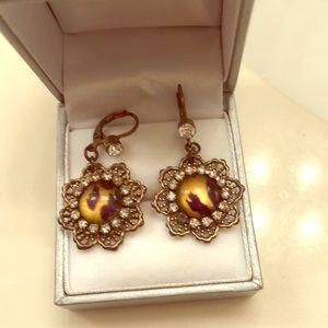 Betsey Johnson leopard dangle earrings
